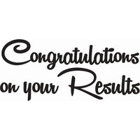 Creative Expressions - Woodware Just Words - Clear Photopolymer Stamps - Congratulations On Your Results