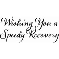Creative Expressions - Woodware Just Words - Clear Photopolymer Stamps - Speedy Recovery