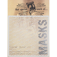 Creative Expressions - That Special Touch Collection - Stencil - 6 x 6 - Aran Piping