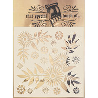 Creative Expressions - That Special Touch Collection - Stencil - 6 x 6 - Decadent Daisies