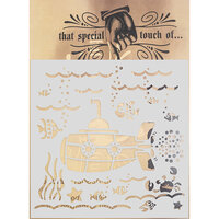 Creative Expressions - That Special Touch Collection - Stencil - 6 x 6 - Deep Blue Sea