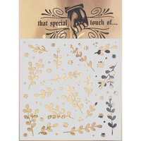 Creative Expressions - That Special Touch Collection - Stencil - 6 x 6 - Sprigs