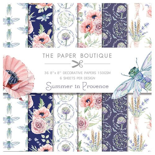 The Paper Boutique - Summer in Provence Collection - 8 x 8 Paper Pad