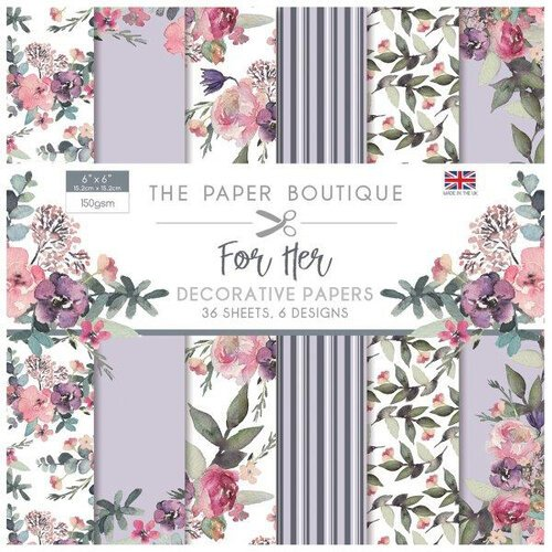 The Paper Boutique - For Her Collection - 6 x 6 Paper Pad