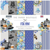 The Paper Boutique - For Him Collection - 6 x 6 Paper Pad