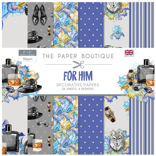 The Paper Boutique - For Him Collection - 8 x 8 Paper Pad