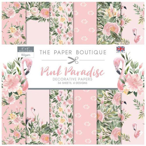 The Paper Boutique - Pink Paradise Collection - 8 x 8 Paper Pad