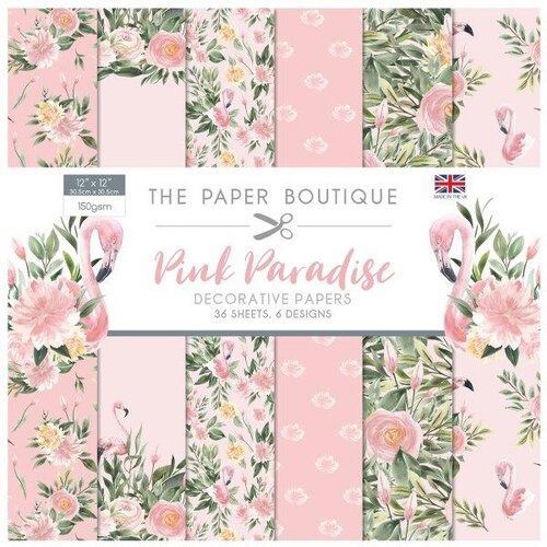 The Paper Boutique - Pink Paradise Collection - 12 x 12 Paper Pad