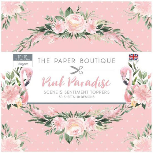 The Paper Boutique - Pink Paradise Collection - 5 x 5 Sentiments Pad