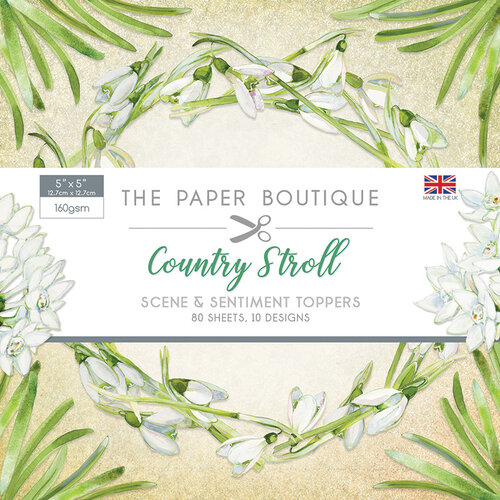 The Paper Boutique - Country Stroll Collection - 5 x 5 Sentiments Pad
