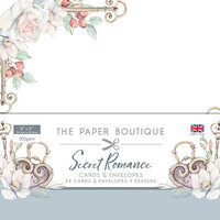 The Paper Boutique - Secret Romance Collection - 8 x 8 Card and Envelope Pack