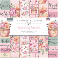 The Paper Boutique - Grandma's Garden Collection - 8 x 8 Embellishments Pad