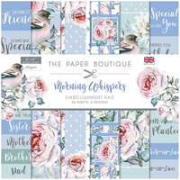 The Paper Boutique - Morning Whispers Collection - 8 x 8 Embellishments Pad