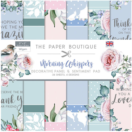 The Paper Boutique - Morning Whispers Collection - 8 x 8 Panels and Sentiments Pad