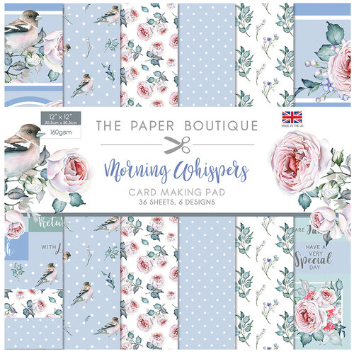 The Paper Boutique - Morning Whispers Collection - 12 x 12 Card Making Pad