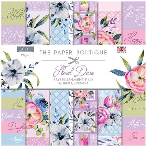 The Paper Boutique - Floral Daze Collection - 8 x 8 Embellishments Pad