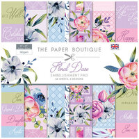 The Paper Boutique - Floral Daze Collection - 8 x 8 Embellishments Pad
