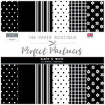 The Paper Boutique - Perfect Partners Collection - 8 x 8 Paper Pad - Black and White