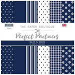 The Paper Boutique - Perfect Partners Collection - 8 x 8 Paper Pad - Navy and White
