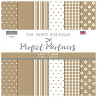 The Paper Boutique - Perfect Partners Collection - 8 x 8 Paper Pad - Kraft and White