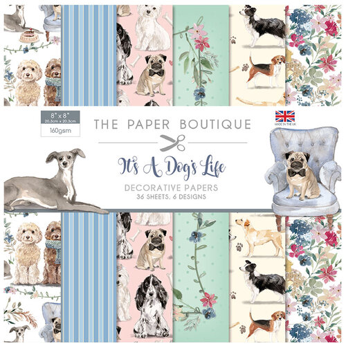 The Paper Boutique - It's a Dogs Life Collection - 8 x 8 Paper Pad