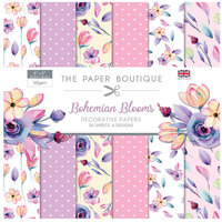 The Paper Boutique - Bohemian Blooms Collection - 8 x 8 Paper Pad