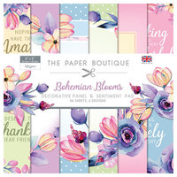 The Paper Boutique - Bohemian Blooms Collection - 8 x 8 Panels and Sentiments Pad