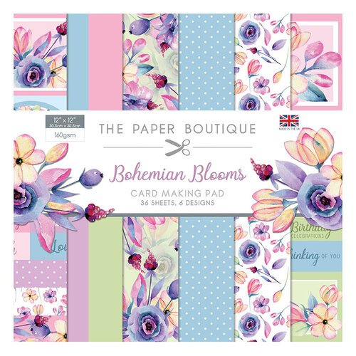 The Paper Boutique - Bohemian Blooms Collection - 12 x 12 Card Making Pad