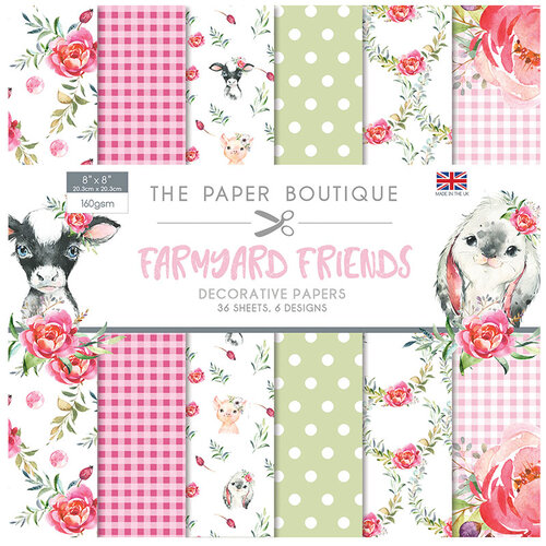 The Paper Boutique - Farmyard Friends Collection - 8 x 8 Paper Pad