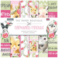 The Paper Boutique - Farmyard Friends Collection - 8 x 8 Embellishments Pad