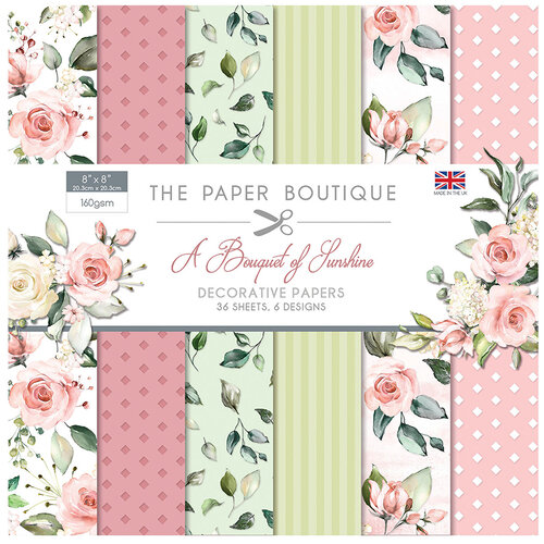 The Paper Boutique - A Bouquet of Sunshine Collection - 8 x 8 Paper Pad