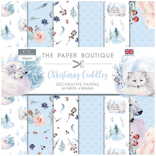 The Paper Boutique - Christmas Cuddles Collection - 8 x 8 Paper Pad