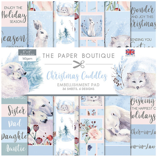 The Paper Boutique - Christmas Cuddles Collection - 8 x 8 Embellishments Pad