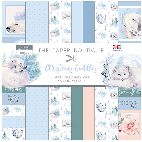 The Paper Boutique - Christmas Cuddles Collection - 12 x 12 Card Making Pad