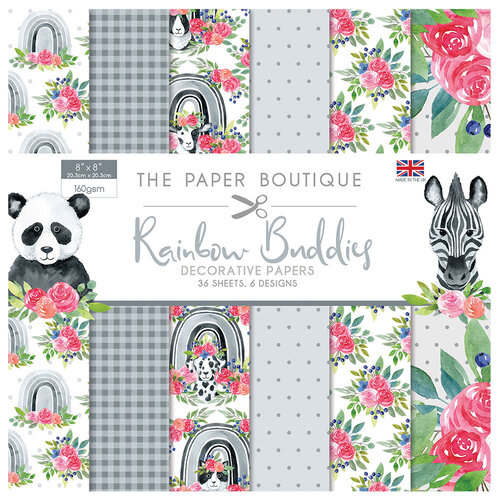 The Paper Boutique - Rainbow Buddies Collection - 8 x 8 Paper Pad