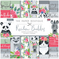 The Paper Boutique - Rainbow Buddies Collection - 8 x 8 Embellishments Pad