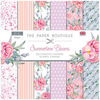 The Paper Boutique - Summertime Blooms Collection - 8 x 8 Paper Pad