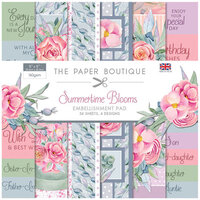 The Paper Boutique - Summertime Blooms Collection - 8 x 8 Embellishments Pad