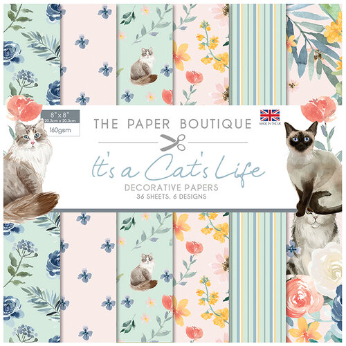 The Paper Boutique - It's a Cats Life Collection - 8 x 8 Paper Pad