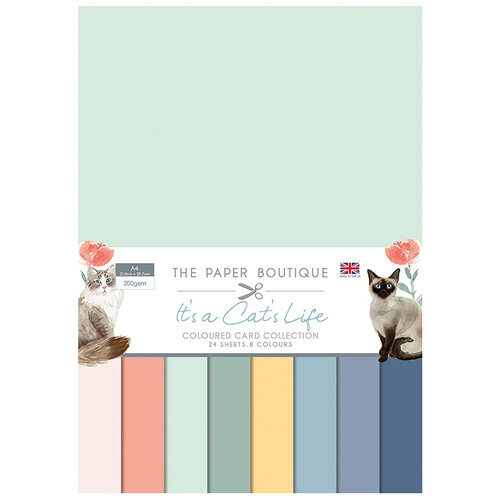 The Paper Boutique - It's a Cats Life Collection - Colour Card Collection