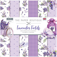 The Paper Boutique - Lavender Fields Collection - 8 x 8 Paper Pad