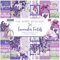 The Paper Boutique - Lavender Fields Collection - 8 x 8 Embellishments Pad