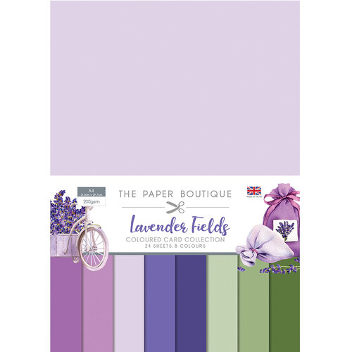 The Paper Boutique - Lavender Fields Collection - Colour Card Collection