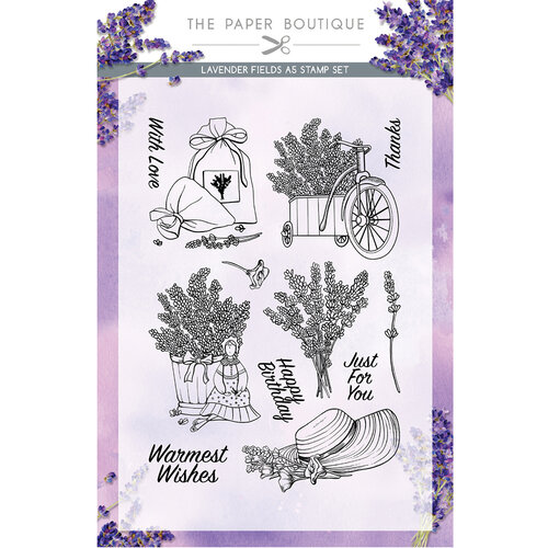 The Paper Boutique - Lavender Fields Collection - A5 Stamp Set