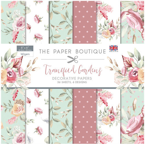 The Paper Boutique - Tranquil Gardens Collection - 8 x 8 Paper Pad
