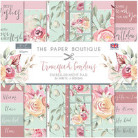 The Paper Boutique - Tranquil Gardens Collection - 8 x 8 Embellishments Pad