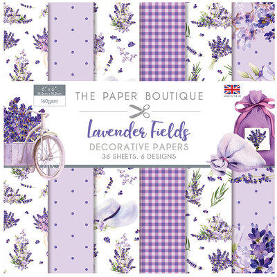 The Paper Boutique - Lavender Fields Collection - 6 x 6 Paper Pad