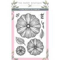The Paper Boutique - Vintage Blooms Collection - A6 Stamp Set - Floral Blooms