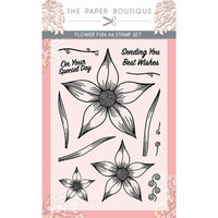 The Paper Boutique - Vintage Blooms Collection - A6 Stamp Set - Flower Fun