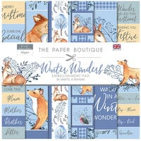 The Paper Boutique - Winter Wonders Collection - 8 x 8 Embellishments Pad